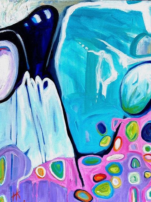 'Rock Pools' by  Kay Hampton