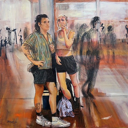 'The Backpackers @ the Graduation' by Janet Leith