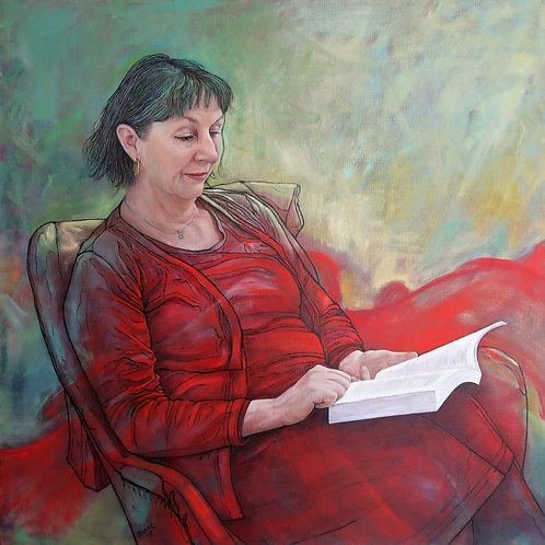 'Rosalie Ham & the Red Dress' by Janet Leith