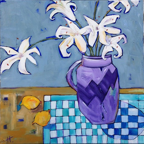'White Lilium's' by Kay Hampton