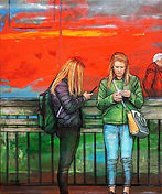 JanetLeith-Red#3-Train-figures-oil.jpg