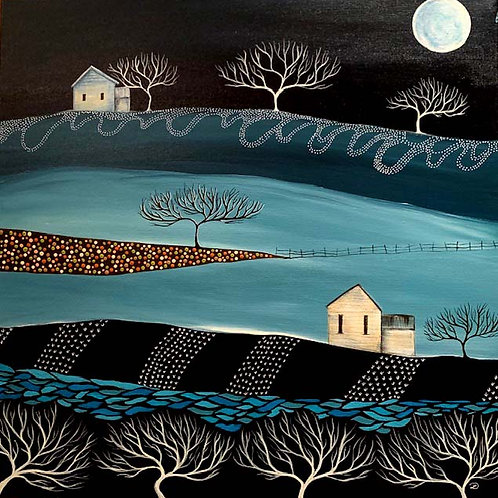 'Moonlight on the Hill' by Linda D'Agostino