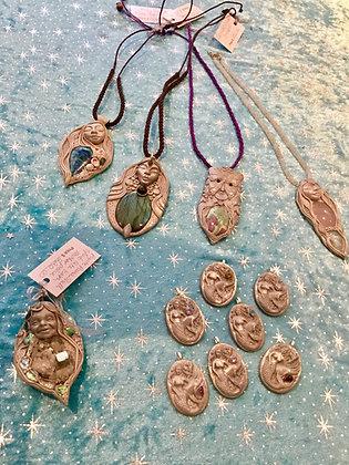 Moon Goddess Pendants by Luzioli