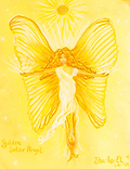 Cosmic Golden Solar Angel