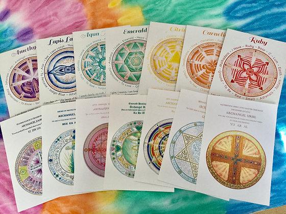 Sacred Chakra Archangel Codes Of Light cards