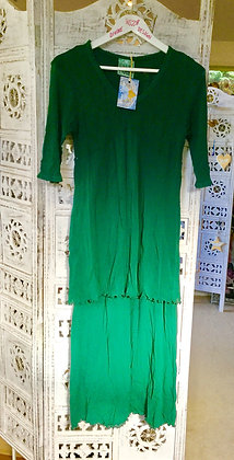 Emerald nylon stretch Maxi Avalon dress