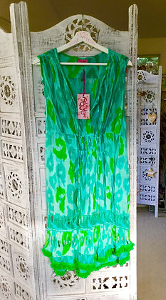 Green print summer frock