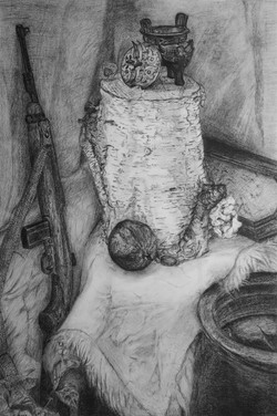 Li bros art studio_student sketch_still life