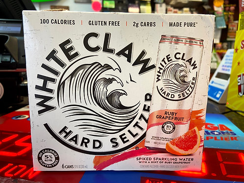 White Claw Ruby Grapefruit 6pk