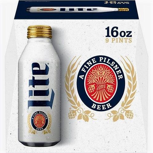 Miller Lite 9pk Aluminum Bottle