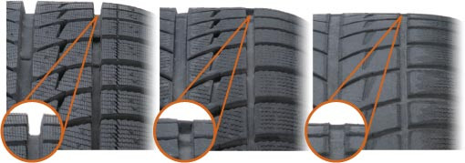 Tire tread depth.