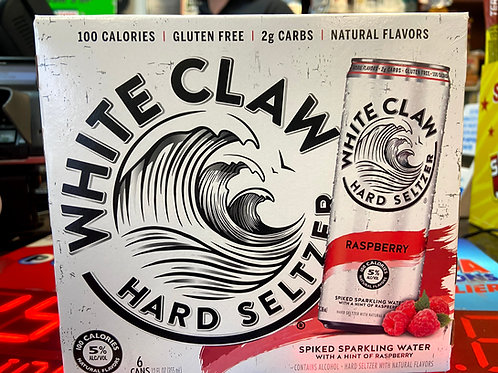 White Claw Raspberry 6pk
