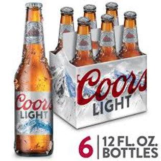 Coors Light 6pk Bottle