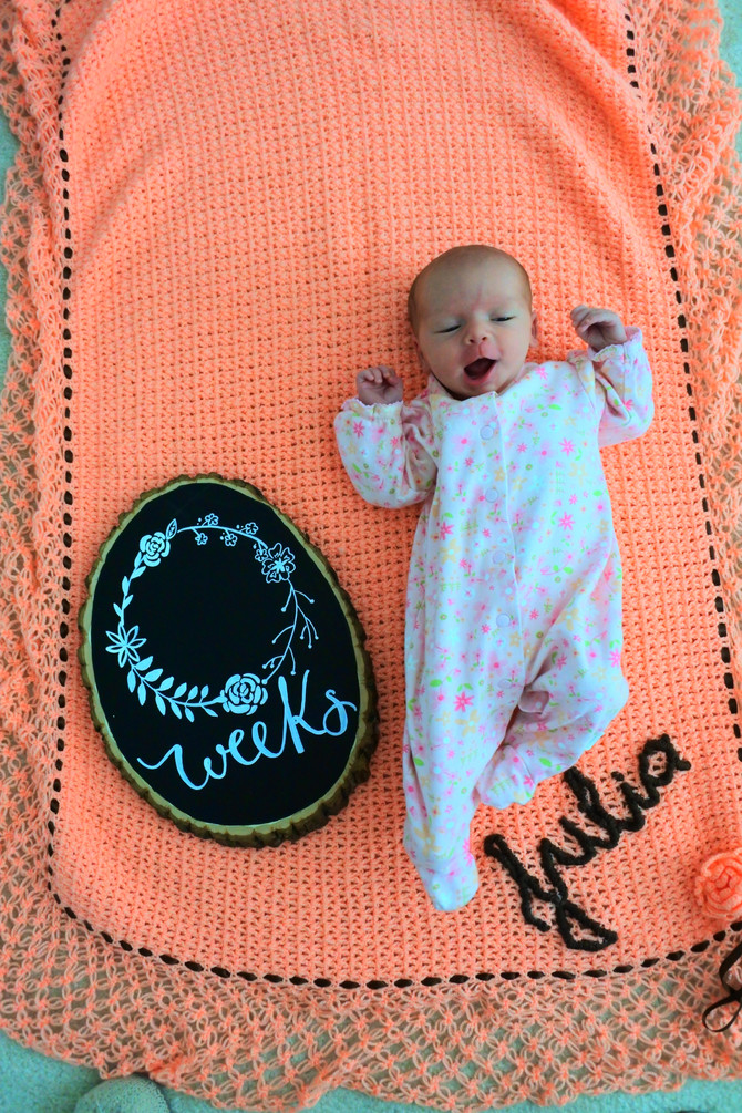 DIY Baby Week Sign