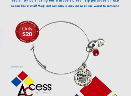 Support the AED Fund with the purchase of this beautiful bracelet!