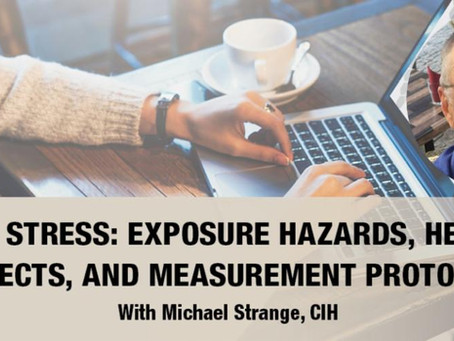 Free Webinar Today - Heat Stress