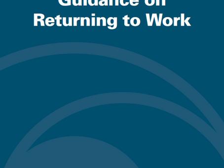 OSHA's Guidance on Returning to Work