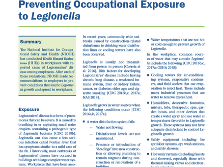 CDC Guidance for Reopening Buildings After Prolonged Shutdown or Reduced Operation
