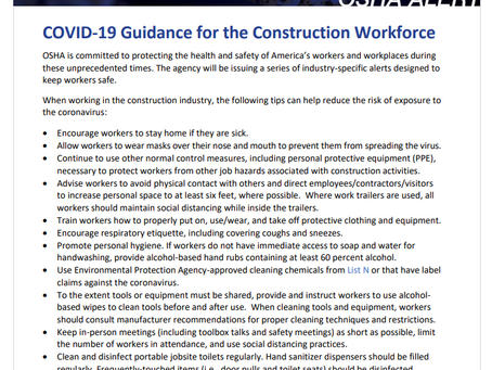 Did you know OSHA has resources to help protect construction workers from the coronavirus?