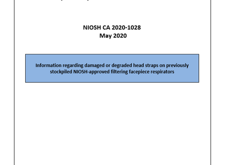 NIOSH Respiratory Protective Device Information - Updated May 18, 2020