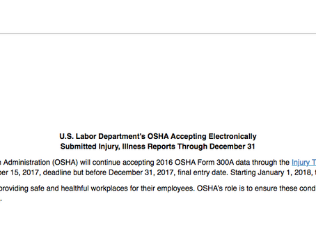 Electronic Submission of Injury and Illness Records to OSHA