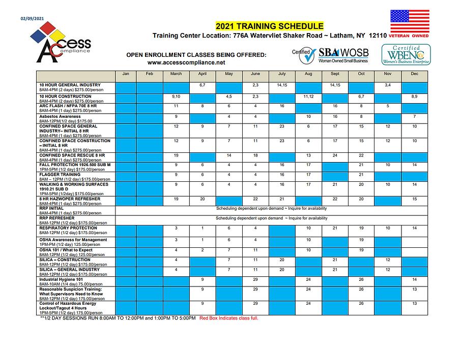 2021 Training Schedule_February Update.p