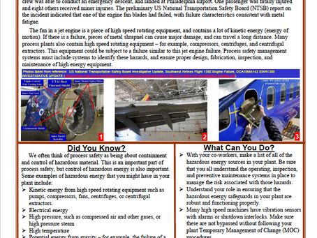 Process Safety Beacon - Hazardous Energy