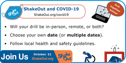 2021 Great ShakeOut Earthquake Drill - Tomorrow!