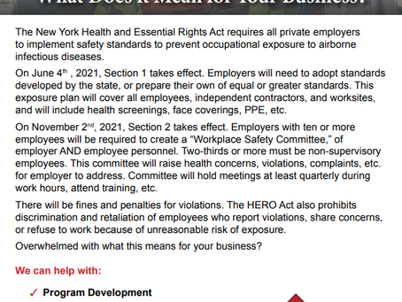 Have you developed an Airborne Infectious Disease Exposure Prevention Plan for your workplace?
