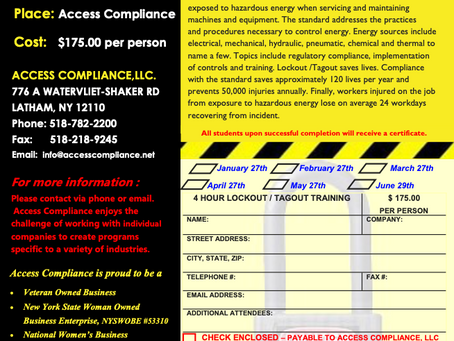 In need of Lockout / Tagout training?