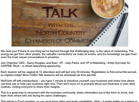 North Country Chamber of Commerce Coffee Talk