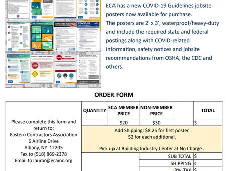 ECA's COVID-19 Guidelines Jobsite Posters