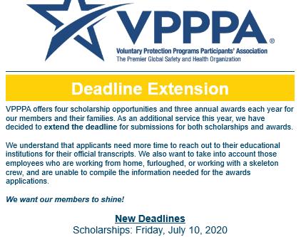 Deadline Extended for VPPPA Awards and Scholarships!