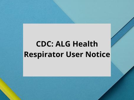 CDC: ALG Health Respirator User Notice