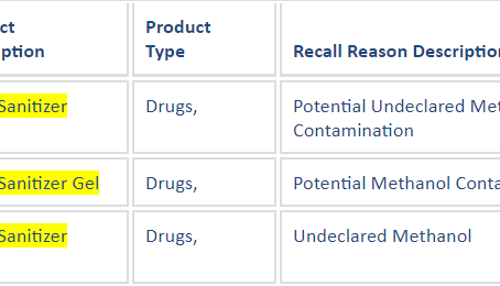 Updated FDA Advisory - Methanol in Hand Sanitizers