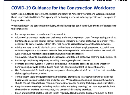 OSHA's COVID-19 Tip of the Day