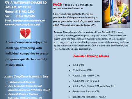 In need of First Aid/CPR/AED Training?