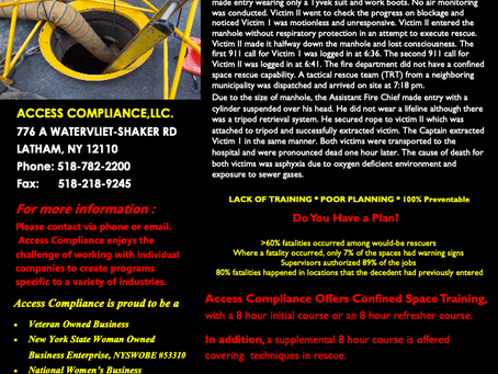 In need of Confined Space Training?