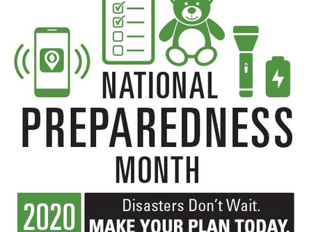 Week 3's Theme of National Preparedness Month (September 13-19): Prepare for Disasters