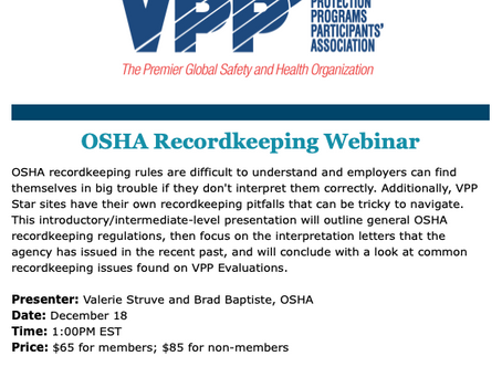 OSHA Recordkeeping Webinar