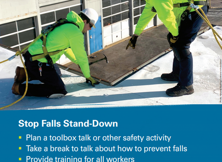 Don't forget - Falls Stand-Down September 14-18th!