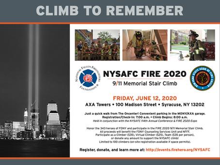 NYSAFC Fire 2020 9/11 Memorial Stair Climb - June 12th!