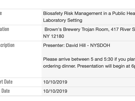 Biosafety Risk Management in a Public Health Laboratory Setting - 10/10