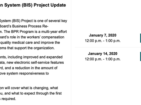 NYS Business Information System (BIS) Project Update Webinar - January 14th