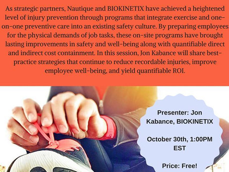 There is Still Time to Register for Today's VPP Webinar! Using Exercise to Achieve Best Practice