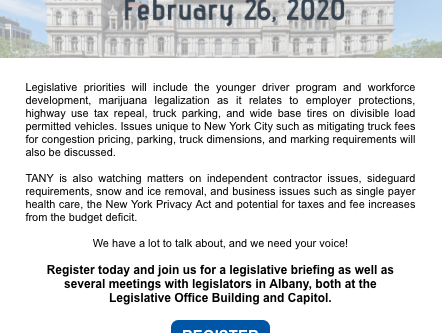 TANY - Call on Albany - February 26th!
