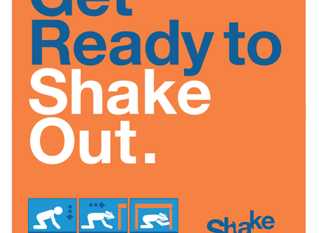 Great ShakeOut scheduled for October 15, 2020!