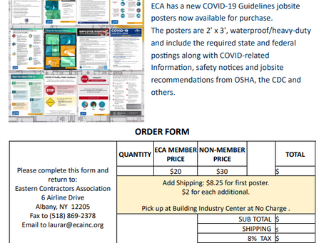 COVID-19 Guidelines Jobsite Posters