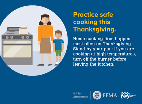 Be safe while cooking for Thanksgiving!
