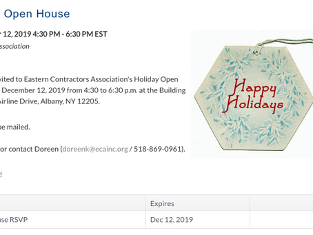 ECA 2019 Holiday Open House - December 12th!